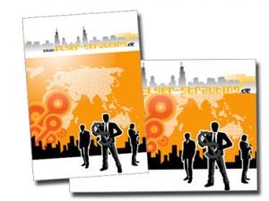 Visitenkarte Doppelt 300g Naturpapier Creme Printdesign